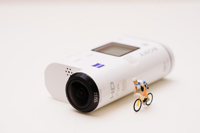 最近,自転車用に買ったウェアラブルカメラ。